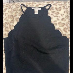 Forever 21 black dress top crop